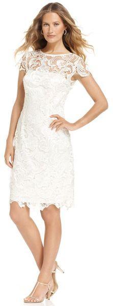 Cute, simple, white sheath dress