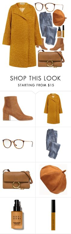 """""""Fall Leafs"""" by smartbuyglasses ❤ liked on Polyvore featuring Elizabeth and James, Ray-Ban, Wrap, Chloé, Bobbi Brown Cosmetics and brown"""