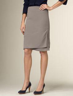 $99.00 - Fluid Crepe Side-Drape Skirt