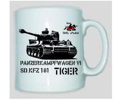 Tasse Tiger 505 Panzerkampfwagen VI SD.KFZ 181 / mehr Infos auf: www.Guntia-Militaria-Shop.de