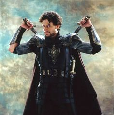 Ioan Gruffudd...as Lancelot in King Arthur  Not really a coat but a cape counts, right??
