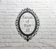Fairest of Them All Vinyl Wall Decal by Msapple on Etsy