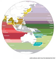 What is across the ocean in the Asia-Pacific region?