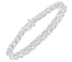 $119.99 - 1 Carat Diamond Tennis Bracelet in Sterling Silver