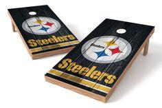 Pittsburgh Steelers Cornhole Board Set - Vintage http://prolinetailgating.com/