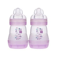 MAM Anti-Colic 5 Ounce Bottle 2 Pack Girl MAM Baby ($14) ❤ liked on Polyvore featuring baby