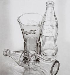 karakalem coca cola şişeleri
