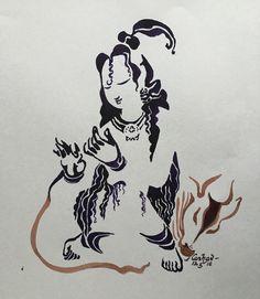 Ananda pravaah. #watercolour #krishnafortoday