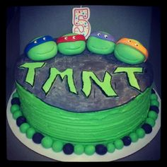Teenage Mutant Ninja Turtle Cake - The Cake's Truffle #TMNT #Cake