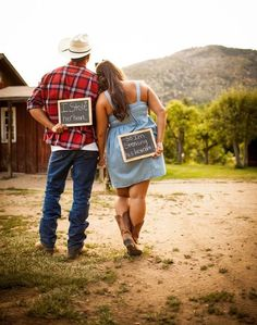 Country engagement photo idea www. Country engagement photo idea www. Country Engagement Pictures, Engagement Couple, Wedding Engagement, Engagement Shoots, Engagement Ideas, Hunting Engagement, Funny Engagement Photos, Engagement Humor, Engagement Decorations