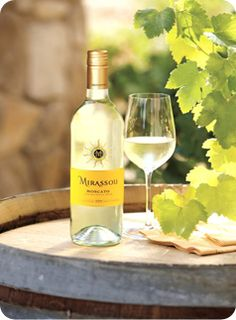 Mirassou Moscato; the Mirassou brand is by far, my most favorite brand of all wines. Beautiful notes of fruit. Nice bouquet. Lasting finish.
