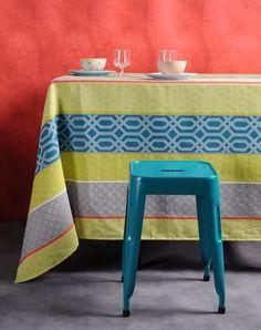 Stof - Nappe enduite GRAPHICS - 100% Coton Chair, Interior, Table, Furniture, Home Decor, Oilcloth, Tablecloths, Stripes, Decoration Home