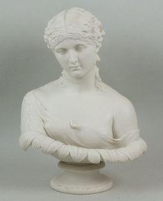 Busto em Parian do sec.19th, 36cm de altura, 1,180 USD / 1,060 EUROS / 3,930 REAIS / 7,250 CHINESE YUAN https://soulcariocantiques.tictail.com
