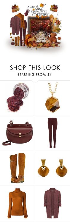 """""""A Fallen Leaf..."""" by caili ❤ liked on Polyvore featuring Vince Camuto, Chloé, J Brand, Naturalizer, Vaubel, MARIOS, WearAll, fallfashion and plus size clothing"""