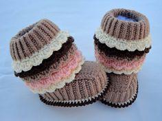 Crochet P A T T E R N tejer botines de punto bebé por Solnishko43