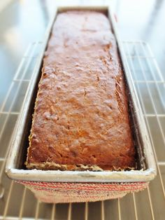 Brown Butter Banana Bread in a pullman loaf pan.  YUM!!!!!