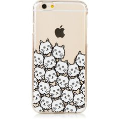 iPhone 6/6S Cat Face Case ($15) ❤ liked on Polyvore featuring accessories and tech accessories