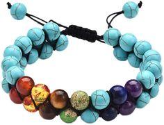Yoga Armband +++ Hitta ett toppval 2021! +✅ Olika alternativ för att välja en fin Yoga Armband. Det bästa urvalet av topprankade produkter ✮ Fantastiska Amazon-priser. Helt enkelt. Klar. Köp den enkelt online! Bracelet Chakra, Chakra Beads, Layered Bracelets, Bracelets For Men, Beaded Bracelets, 7 Chakras, Le Jade, Bracelet Turquoise, Pierre Turquoise