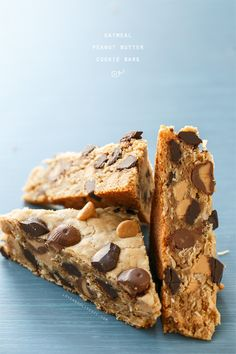 Oatmeal Peanut Butter Cookie Bars by @Lindsay Dillon Landis | Love and Olive Oil