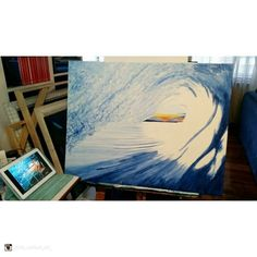 Stunning work in progress from Good Art Guide artist  @chris_neilson_art_ Check out their page http://ift.tt/2eAHptH . . 'Back on this wave painting.... feels good!! Referencing a wonderful @willoscallaghan image. Hoping to do it justice mate!!' . . #contemporaryart #acrylicpainting #surfart #painting #artforsale #wavepainting #wip #art #illustration #picture #artist #sketch #sketchbook #paper #pen #pencil #artsy #instaart #beautiful #instagood #gallery #masterpiece #creative #photooftheday…