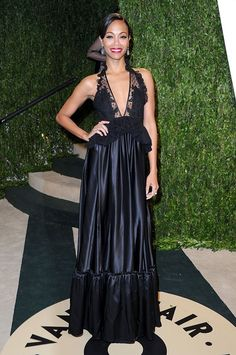 Zoe Saldana in Alexis Mabille Couture.  Oscar's Parties - Best Dressed the 2013 Edition (12 pics)  http://toyastales.blogspot.com/2013/02/oscars-parties-best-dressed-2013.html#