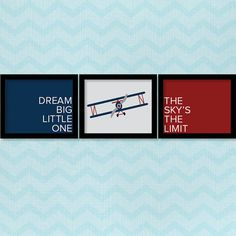 Airplane Nursery Print, Dream Big Little One, The Sky is the limit