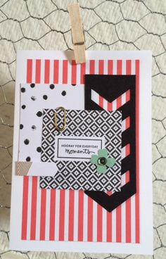 """Stampin Up,""""Moment Like These Accesory Pack"""", """"Banner Triple"""" Punch, """"Envelope Paper"""""""