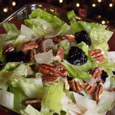 Quick Christmas Salad Recipe-I'm thinking, adding some pear, apples, mandarin oranges, and a red onion too.