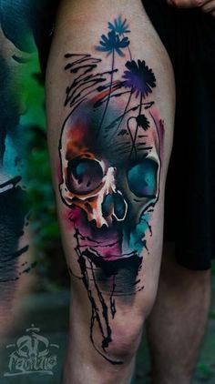 Resultado de imagen para beautiful skull tattoos for women Great Tattoos, Unique Tattoos, Beautiful Tattoos, Body Art Tattoos, Sleeve Tattoos, Tatoos, Pretty Skull Tattoos, Sugar Skull Tattoos, Tattoo Bunt