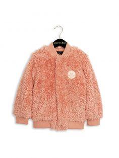 Mini Rodini AW16 Pile Baseball Jacket Pink