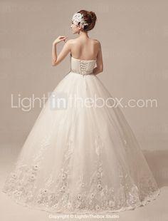 vestido de novia palabra de longitud tul balón vestido de novia (hs1018) - USD $ 179.99