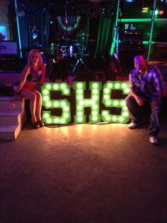I made these Marque lights for our class reunion. They looked great in front of the band on the dance floor. They made a great backdrop for photos