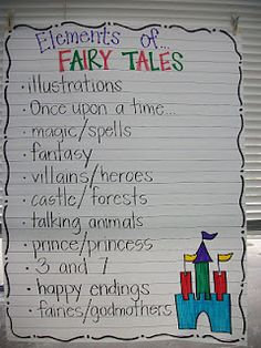 From Teaching...with LOVE - elements of Fairy Tales