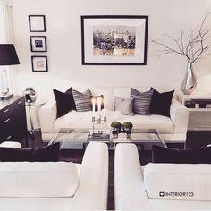 Grey and white decor living room superb black and white living room decor l Interior Design, House Interior, Home Living Room, White Living Room Decor, Apartment Decor, Home, White Living, White Decor, Home N Decor
