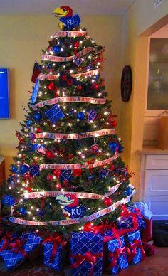 Jayhawk (University of Kansas)  Christmas Tree