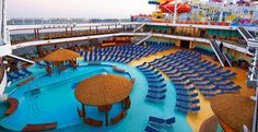 Hurry!  I've saved you a lounge  - it's getting crowded!  Aboard the new Carnival #BREEZE