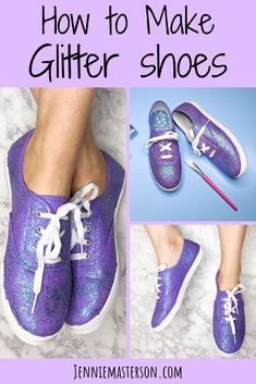 They also make for a fun and easy craft project for adults and teens. And with that glitter aesthetic they are sure to please just about everyone. Source by jennieRmasterson shoes for fall Diy Glitter Sneakers, Glitter Converse, Glitter Shoes, Glitter Glasses, Glitter Hair, Gold Glitter, Glitter Projects, Glitter Crafts, Glitter Paint Diy