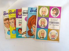 Collection of Vintage 1960s Barbie fashion booklets by WintersDesigns on Etsy