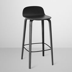 The gentle contours of the Visu Bar/Counter Stool are offset by its slender profile.