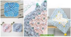 Collection of Crochet Pearl Flower Popcorn Square Motif Free Patterns: Crochet Popcorn Motif, Crochet Popcorn Square, Crochet Popcorn Square Blanket