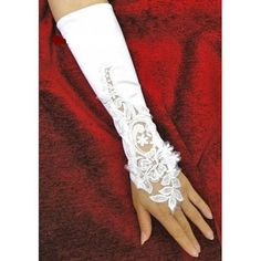 #Flowers Bridal Gloves Fingerless Satin Lace Pearl Wedding Party Prmo #G1       http://amzn.to/HuMh7F