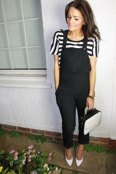 Monochrome Dungarees | Women's Look | ASOS Fashion Finder