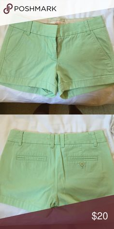 Chino shorts Broken-in mint colored chino shorts from J Crew J. Crew Shorts