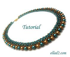 Freya Necklace is easy and relatively quick to make beading project. Beading instruction is very detailed with photos of each step. You need Miyuki beads
