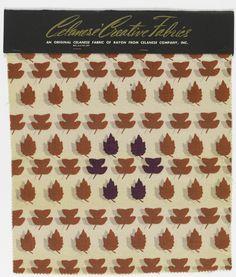 Manufacturer's Sample, Leaves, 1948