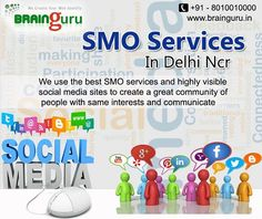 Our #SMO_expert teams always hear your needs and use all categories of #social_media to promote your company, product or services through #SMO in the Internet world. Draw attention of online audience into your website. http://brainguru.in/smo-services-noida-india.html