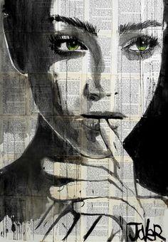 """Saatchi Online Artist Loui Jover; Drawing, """"undine"""" #newspaper"""