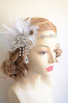 Feedback left for this Beautiful Headpiece from my Couture Line: Absolutely stunning! The photos do not do this justice, it's even more beautiful in person and it's so versatile - I love that you can wear each piece separately or together! It's clearly a quality product. Worth every penny! And arrived within 2 days!! Love it!!