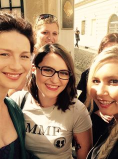 And one more fan picture of Cait from the Outlander Czech Fans Facebook Group!