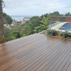 Pictured: Thermory® Thermo-Ash Decking.